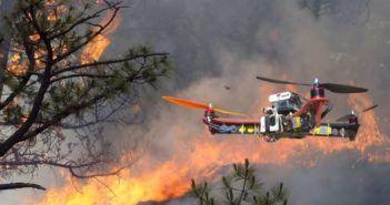 uso dei droni in caso di incendio
