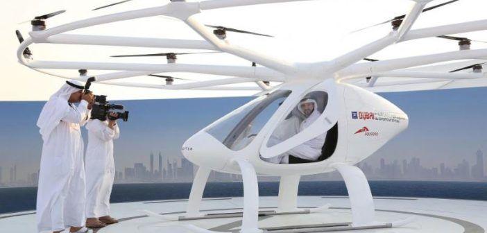 taxi drone dubai primo test