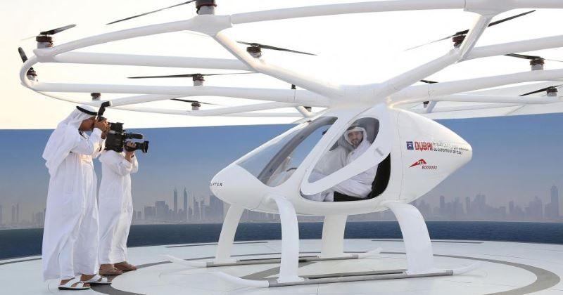 Primo volo dell'Autonomous Air Taxi a Dubai, senza pilota e senza passeggeri