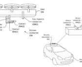 Amazon brevetta il drone che carica le auto elettriche in movimento