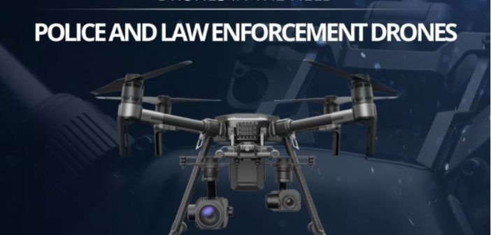 infografica droni forze dell'ordine