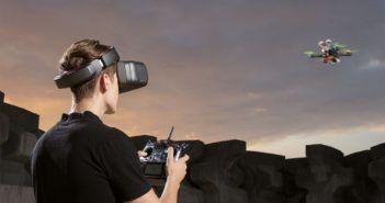 Visori da corsa targati DJI per i droni da competizione
