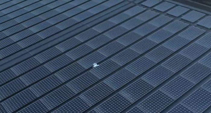 Drone caduto sui pannelli fotovoltaici del Apple Park