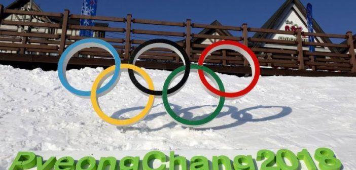 Logo Olimpiadi Invernali 2018 pyeongChang sulla neve