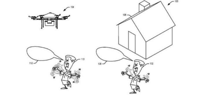 brevetto amazon gesture mode droni per le consegne