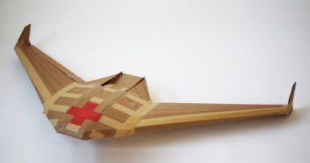 drone militare di cartone usa e getta