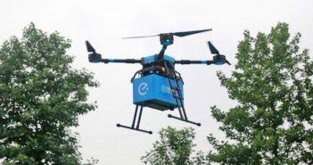 consegna di cibo via drone eleme in cina