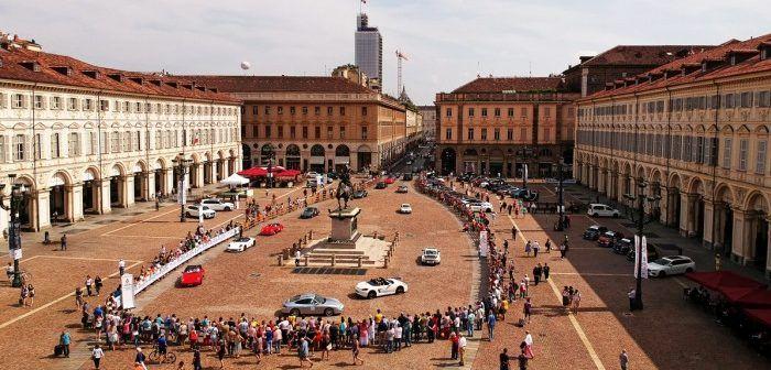Drone riprende IV salone auto Torino