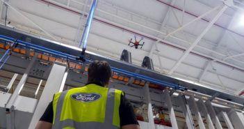 droni ford controllano impianto produttivo