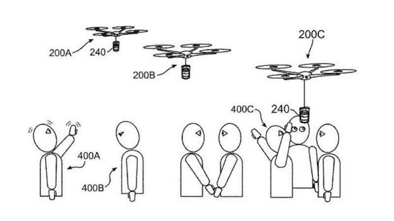 ibm drone porta caffe