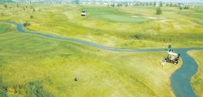 droni consegnano bibite snack campi da golf usa
