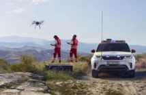 drone land rover discovery