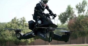 hoverbike moto volante polizia dubai