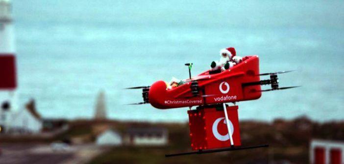 consegna via drone 4g vodafone uk