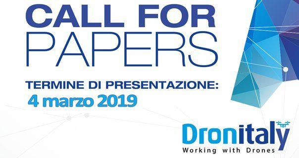 Dronitaly lancia l'iniziativa Call for Paper