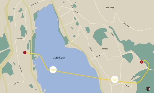 itinerario di volo del drone caduto nel lago di zurigo in svizzera