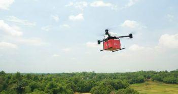 jd prima consegna di drone in indonesia