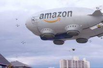 video fake dirigibile amazon sciame di droni