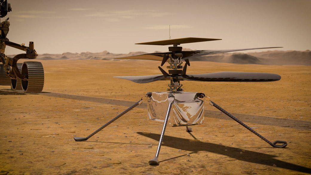 C'è un drone su Marte!