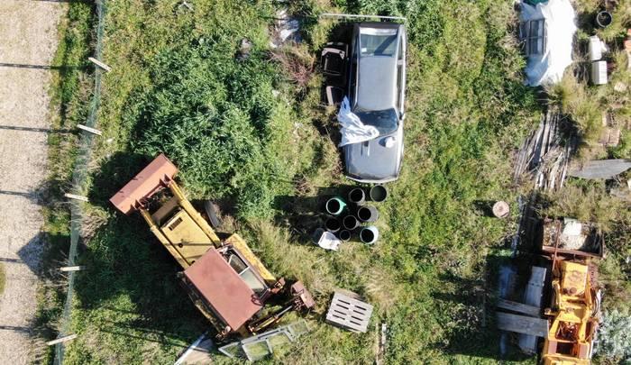 Ciampino i droni del Reparto Volo della polizia locale scovano discarica abusiva