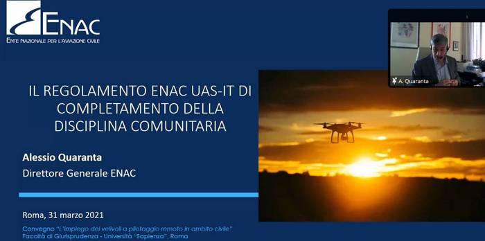 ENAC: circa 40mila operatori in Italia, droni civili in Europa daranno lavoro a 100mila persone