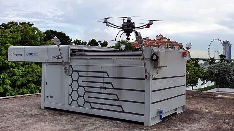 Singapore: i droni monitorano la qualità dell'acqua nei bacini idrici