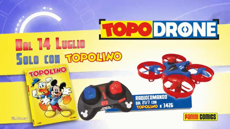 Ecco TopoDrone, il drone per bambini in edicola con Topolino